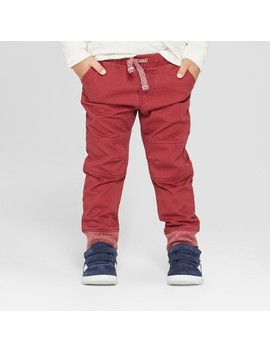 Toddler Boys' Reinforced Knee Jogger Fit Pull On Pants   Cat & Jack™ Berry by Cat & Jack™