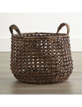 Zuzu Round Handwoven Basket by Crate&Barrel