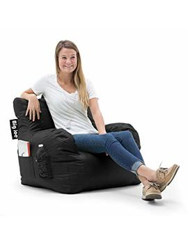 Big Joe 645602 Dorm Bean Bag Chair, Stretch Limo Black by Big Joe