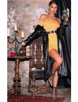 Orange Bardot Bodycon Dress by Prettylittlething