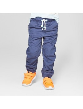 Toddler Boys' Jogger Fit Lined Pull On Pants   Cat & Jack™ Navy by Cat & Jack™