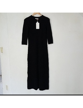 Zara Black Knit Long Sweater Dress Size Large   Nwt by Zara
