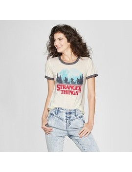 Stranger Things Women's Short Sleeve T Shirt   (Juniors') White by Stranger Things
