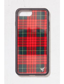 Wildflower Red Plaid I Phone Case by Wildflower