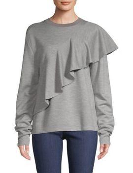 Ruffled Front Pullover by Diane Von Furstenberg