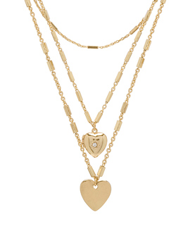Hearts Layered Necklace by Ettika