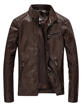 Fairylinks Leather Jacket Men Lightweight Bomber Jackets And Coats by Fairylinks