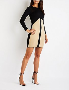 Colorblock Midi Sweater Dress by Charlotte Russe