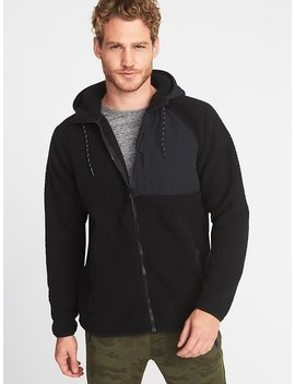 Go Warm Sherpa Nylon Trim Hooded Jacket For Men by Old Navy
