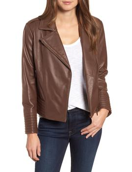 Gia Leather Biker Jacket by Badgley Mischka
