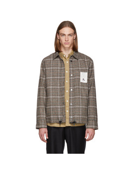 Brown Pull Jacket by L'homme Rouge