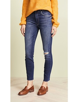 High Waisted Looker Ankle Jeans by Mother