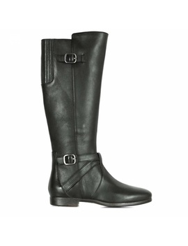 Ugg Beryl Black Leather Side Zip Riding Boots 9 M by Ugg