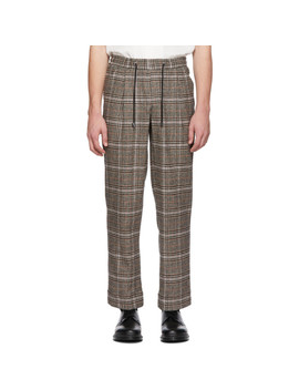 Brown Floater Pants by L'homme Rouge