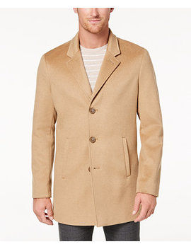 Men's Slim Fit Overcoat by Calvin Klein