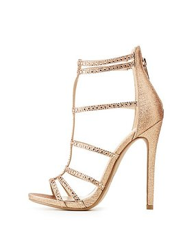 Crystal Caged Dress Sandals by Charlotte Russe