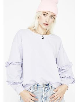 Too Cute For You Ruffle Sweatshirt by Ellison
