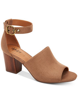 Priyaa Block Heel Sandals, Created For Macy's by Style & Co