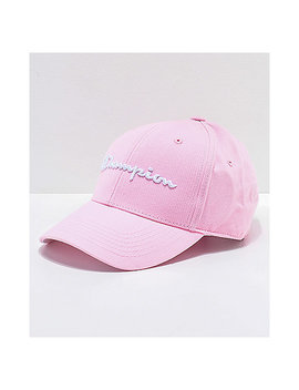 Champion Classic Twill Pink Candy Strapback Hat by Champion