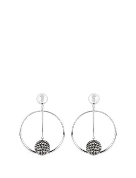 Bendel Rocks Linear Hoop Earring by Henri Bendel