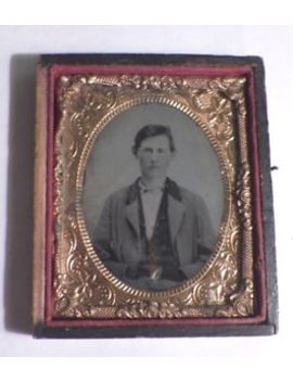 Antique Daguerreotype In Union Case 9 Th Plate Gentleman by Ebay Seller