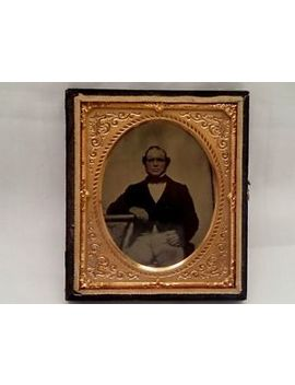 1/6 Plate Daguerreotype Ambrotype Curly Hair Gentleman Dressed  Period Clothing by Ebay Seller