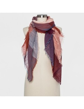 Women's Oversize Rectangle Scarf   Universal Thread™ Burgundy by Universal Thread™