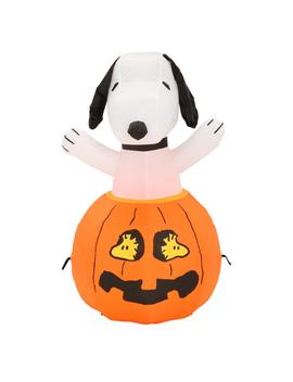 36 In. Inflatable Snoopy In Pumpkin With Woodstock by Gemmy