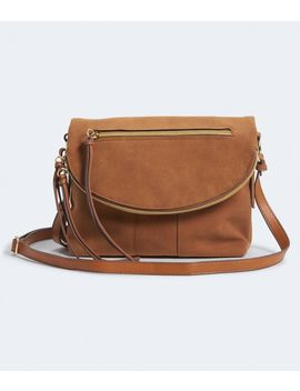 Faux Suede Crossbody Bag by Aeropostale