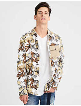 Ae Printed Twill Button Down Shirt by American Eagle Outfitters