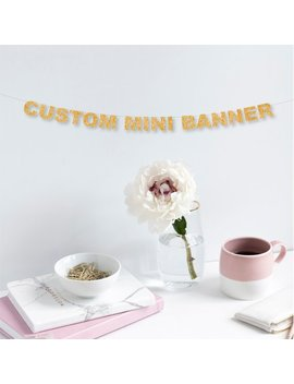 Custom Mini Banner! Glitter Banner, Party, Announcement, Engagement, Weddings, Birthdays More Colors Available! by Etsy
