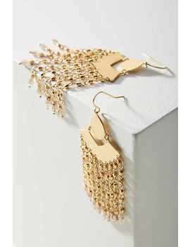 Meilani Fringed Drop Earrings by Anthropologie