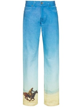 Printed Straight Leg Jeans by Calvin Klein Jeans Est. 1978