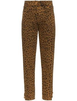 Leopard Print Jeans by Saint Laurent