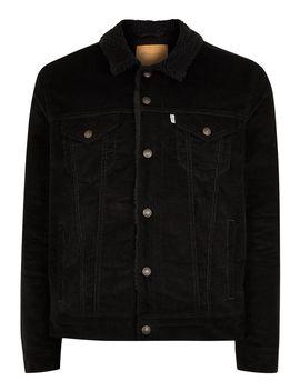 Levi's Black Sherpa Jacket by Topman