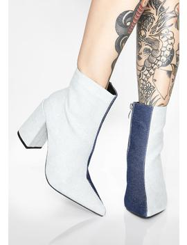 Denim Go Both Ways Ankle Boots by So Me