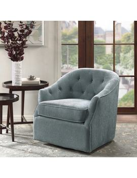 Madison Park Gayla Light Blue Swivel Chair by Madison Park