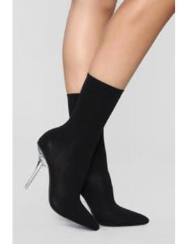 As You Know It Bootie   Black by Fashion Nova