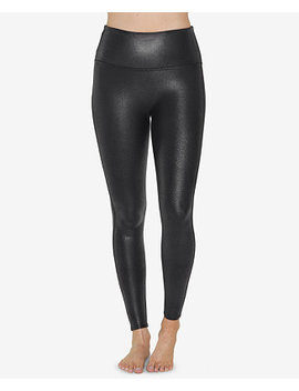 Pebbled Faux Leather Leggings by Spanx