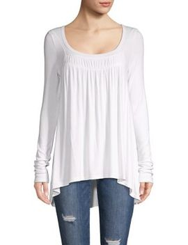 Gathered Long Sleeve Top by Free People