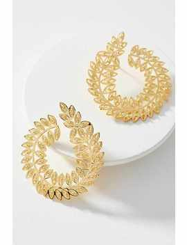 Tres Almas Coiled Vines Hooped Post Earrings by Tres Almas