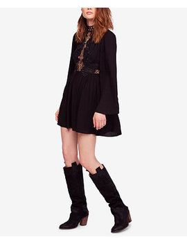 Divine Lace Trim Mini Dress by Free People