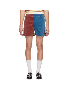 Multicolor Corduroy Winter Running Shorts by Noah Nyc