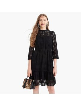 All Over Eyelet Long Sleeve Dress by J.Crew
