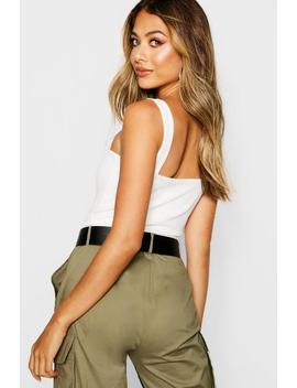 Basic Crepe Vest Top by Boohoo