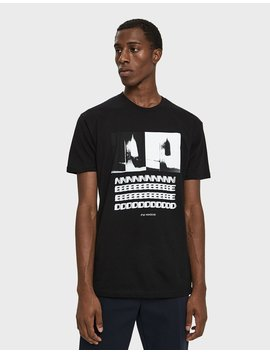 S/S Blurred Together Tee In Black by Need