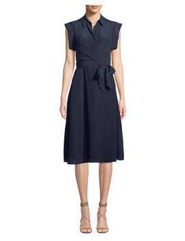 Avery Silk Button Front Shirtdress by Diane Von Furstenberg