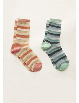 Striped Ankle Socks Pack by Mango