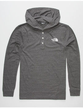 The North Face Triblend Henley Black Mens Lightweight Hoodie by The North Face