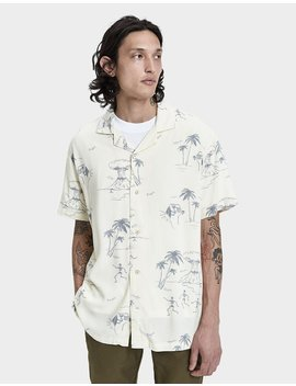Doomsday Resort Button Up Shirt In Yellow by Insight